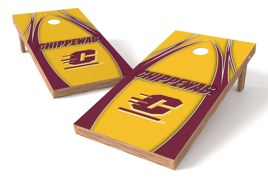 Image: Central Michigan Chippewas Cornhole Board Set - The Edge | Proline Tailgating