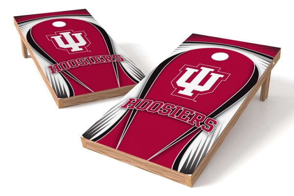 Image: Indiana Hoosiers 2x4 Cornhole Board Set - Drop | Proline Tailgating