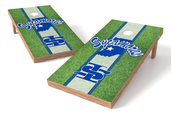 Image: Indiana State Sycamores Cornhole Board Set - Field | Proline Tailgating