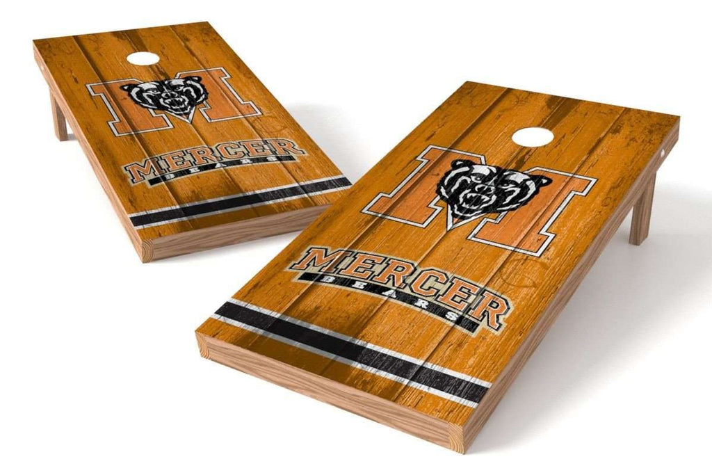 Image: Mercer Bears Cornhole Board Set - Vintage | Proline Tailgating