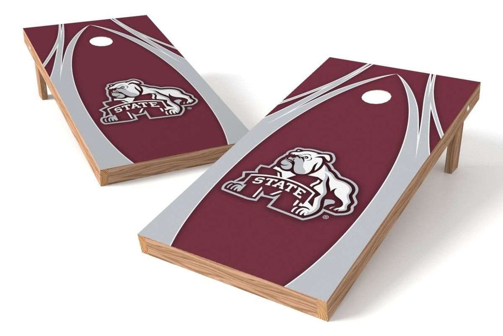 Image: Mississippi State Bulldogs 2x4 Cornhole Board Set - The Edge | Proline Tailgating