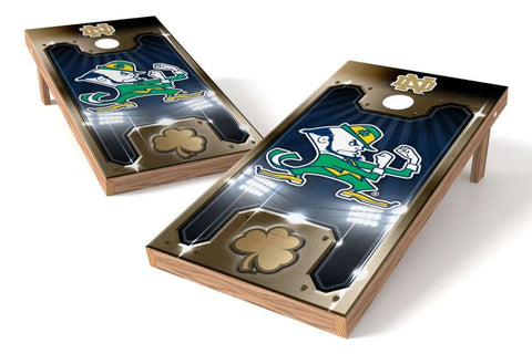 Image: Notre Dame Fighting Irish 2x4 Cornhole Board Set - Plate | Proline Tailgating