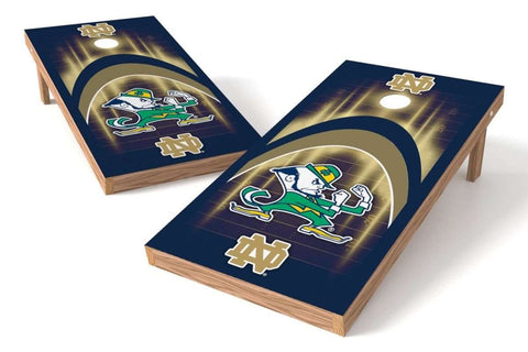Image: Notre Dame Fighting Irish Cornhole Board Set - Arch (w/Bluetooth Speakers) | Proline Tailgating