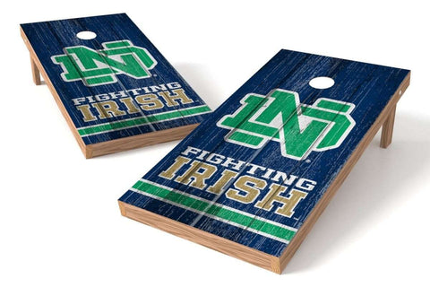 Image: Notre Dame Fighting Irish 2x4 Cornhole Board Set - Vintage | Proline Tailgating