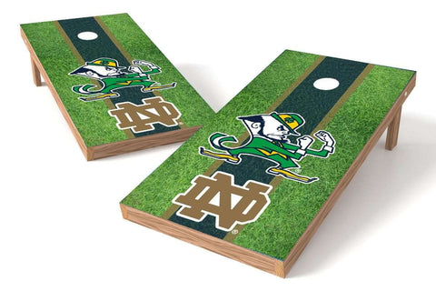 Image: Notre Dame Fighting Irish 2x4 Cornhole Board Set - Field | Proline Tailgating