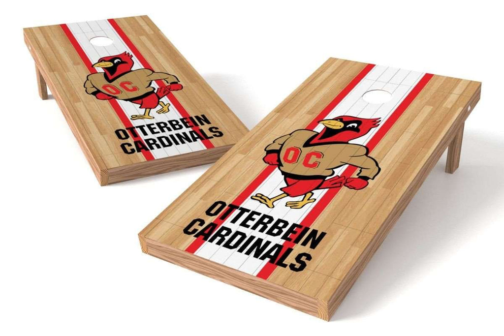 Image: Otterbein Cardinals Cornhole Board Set - Court (w/Bluetooth Speakers) | Proline Tailgating