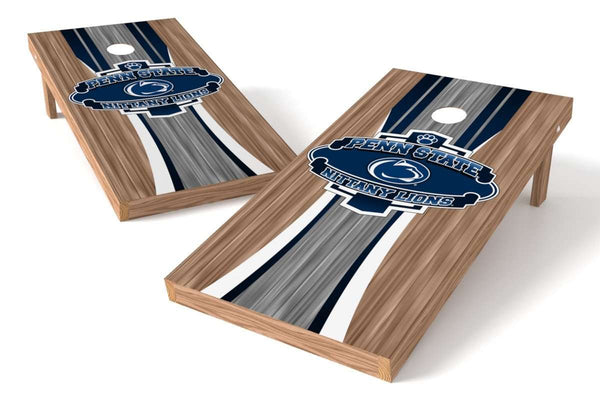 Image: Penn State Nittany Lions Cornhole Board Set - Wood (w/Bluetooth Speakers) | Proline Tailgating