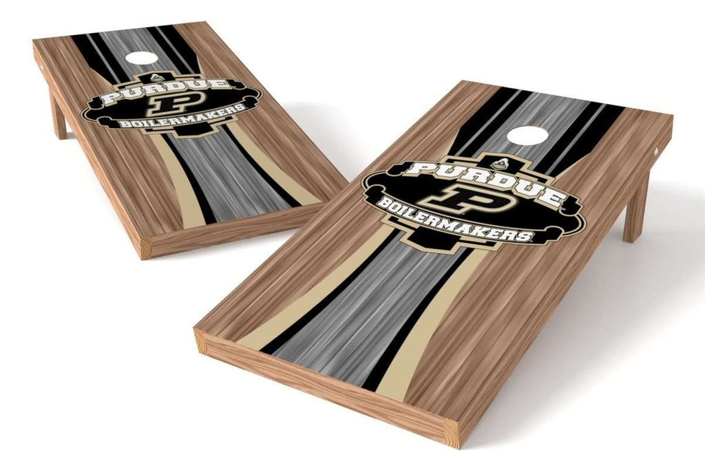 Image: Purdue Boilermakers Cornhole Board Set - Wood (w/Bluetooth Speakers) | Proline Tailgating