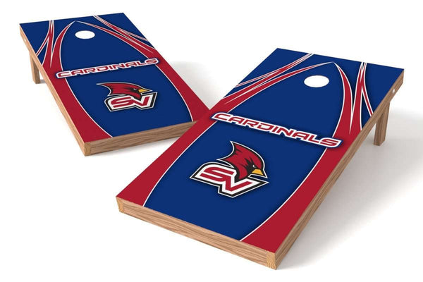 Image: Saginaw Valley State Cardinals Cornhole Board Set - The Edge (w/Bluetooth Speakers) | Proline Tailgating