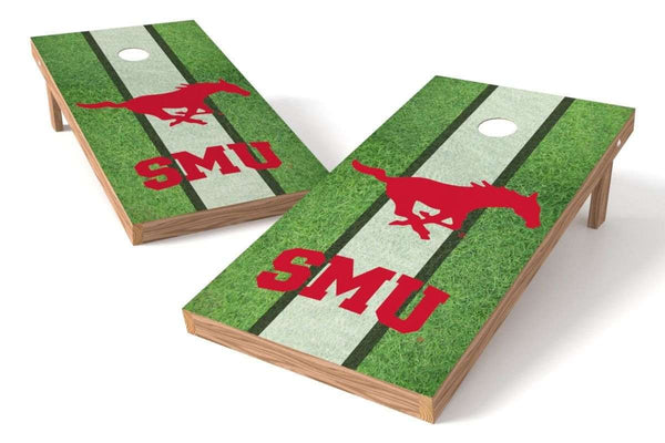 Image: SMU Mustangs Cornhole Board Set - Field (w/Bluetooth Speakers) | Proline Tailgating