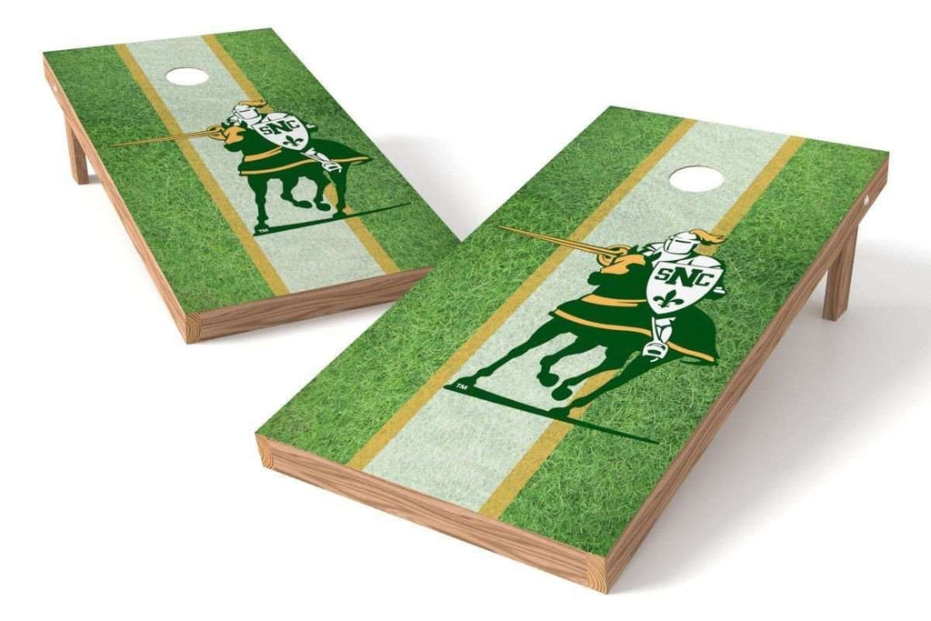 Image: St. Norbert College Green Knights Cornhole Board Set - Field (w/Bluetooth Speakers) | Proline Tailgating