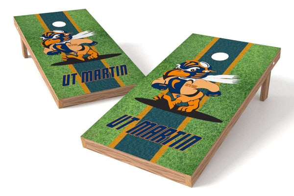 Image: University of Tennessee-Martin Skyhawks Cornhole Board Set - Field (w/Bluetooth Speakers) | Proline Tailgating