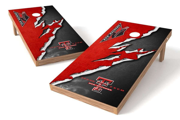 Image: Texas Tech Red Raiders Cornhole Board Set - Ripped (w/Bluetooth Speakers) | Proline Tailgating
