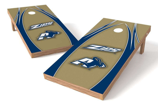 Image: Akron Zips Cornhole Board Set - The Edge | Proline Tailgating