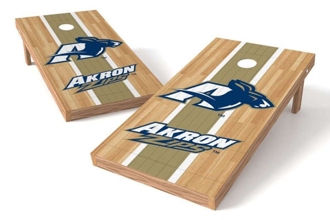 Image: Akron Zips Cornhole Board Set - Court (w/Bluetooth Speakers) | Proline Tailgating