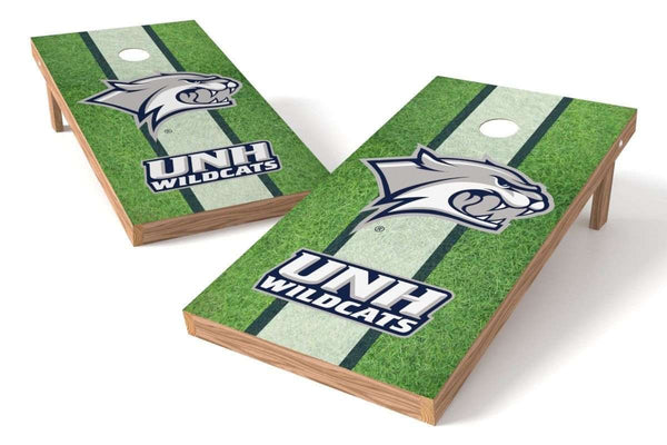 Image: New Hampshire Wildcats Cornhole Board Set - Field (w/Bluetooth Speakers) | Proline Tailgating