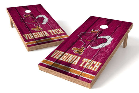 Image: Virginia Tech Hokies 2x4 Cornhole Board Set - Vintage | Proline Tailgating