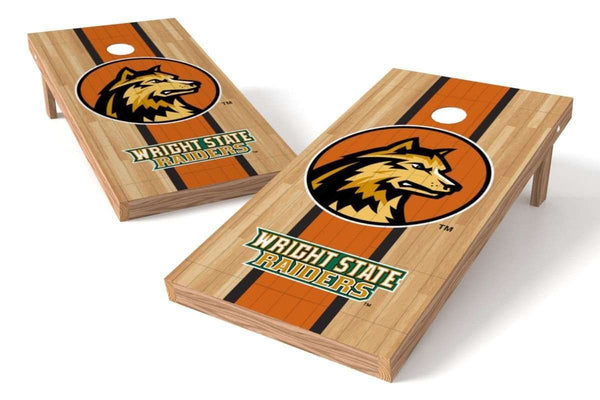 Image: Wright State Raiders Cornhole Board Set - Court (w/Bluetooth Speakers) | Proline Tailgating