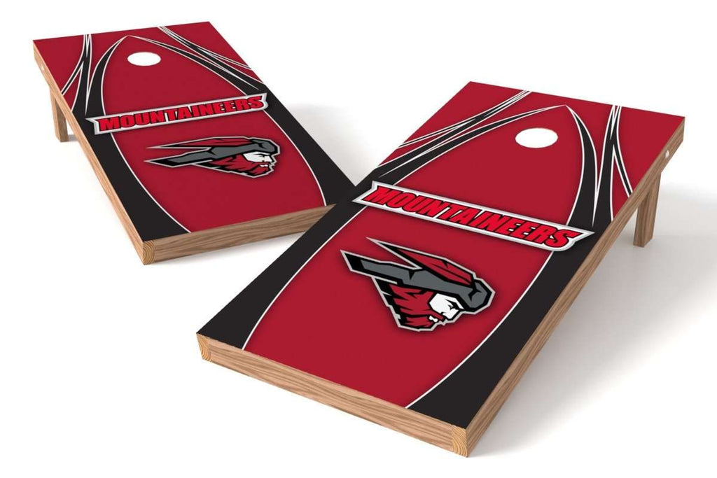 Image: Western State Colorado Mountaineers Cornhole Board Set - The Edge (w/Bluetooth Speakers) | Proline Tailgating