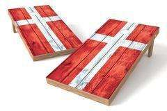Image: Denmark Flag Single Cornhole Board-Vintage | Proline Tailgating