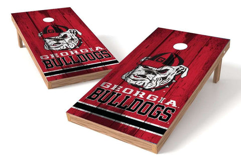 Image: Georgia Bulldogs 2x4 Cornhole Board Set - Vintage | Proline Tailgating