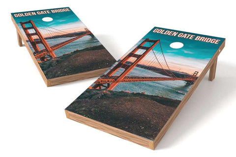 Image: San Francisco Skyline Cornhole Board Set | Proline Tailgating