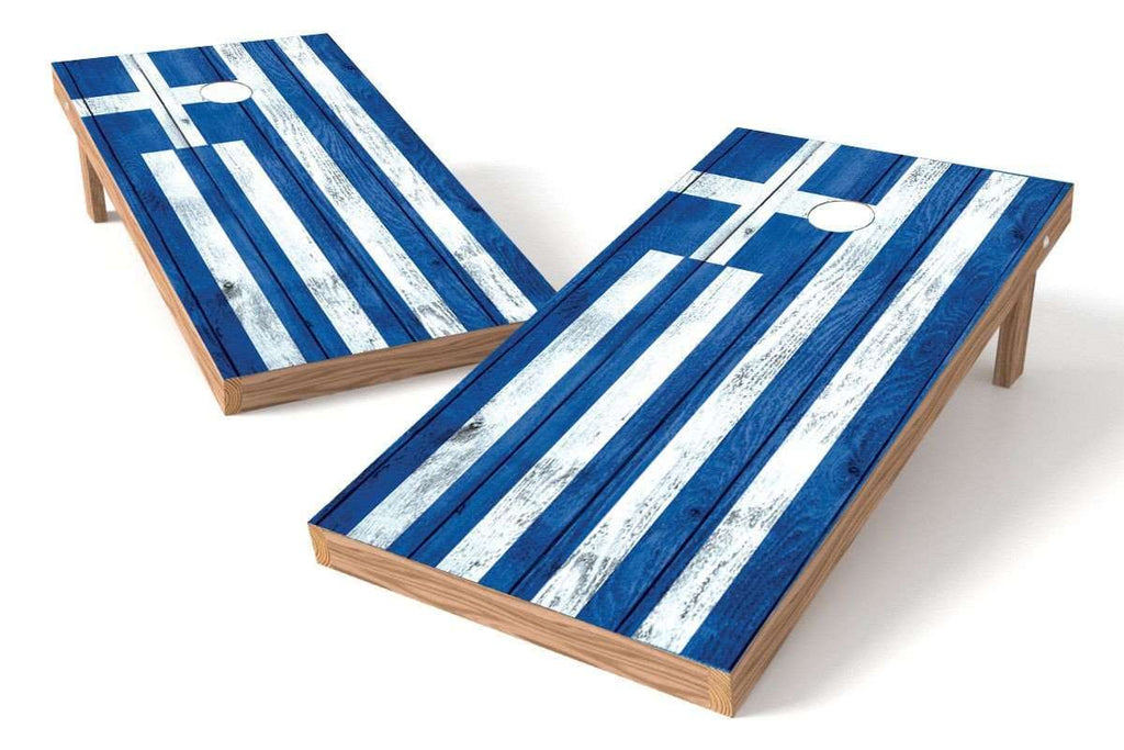 Image: Greece Flag Cornhole Board Set-Vintage | Proline Tailgating
