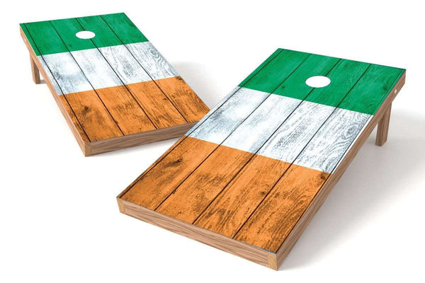 Image: Ireland Flag Cornhole Board Set-Vintage | Proline Tailgating