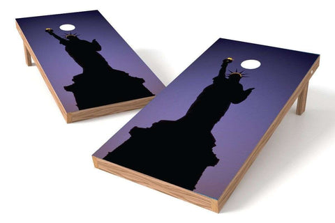 Image: Statue Of Liberty Cornhole Board Set-Night | Proline Tailgating