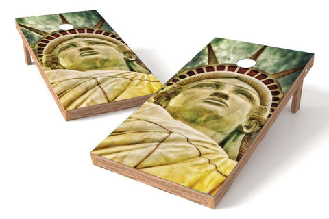 Image: Statue Of Liberty Cornhole Board Set-Close | Proline Tailgating