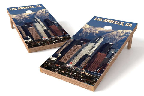 Image: Los Angeles Skyline Cornhole Board Set | Proline Tailgating