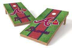 Image: Atlanta Braves Single Cornhole Board - Field | Proline Tailgating