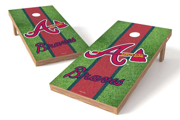 Image: Atlanta Braves 2x4 Cornhole Board Set - Field | Proline Tailgating