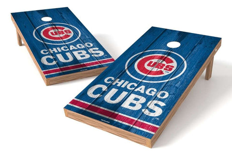 Image: Chicago Cubs 2x4 Cornhole Board Set - Vintage | Proline Tailgating