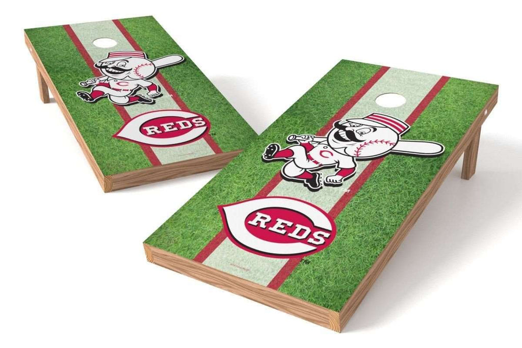 Image: Cincinnati Reds 2x4 Cornhole Board Set - Field | Proline Tailgating
