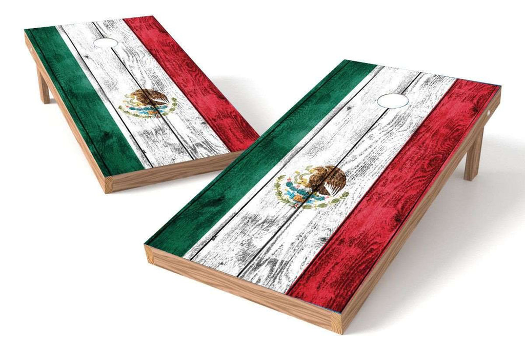 Image: Mexico Flag Cornhole Board Set-Vintage | Proline Tailgating