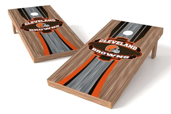 Image: Cleveland Browns 2x4 Cornhole Board Set - Wood | Proline Tailgating