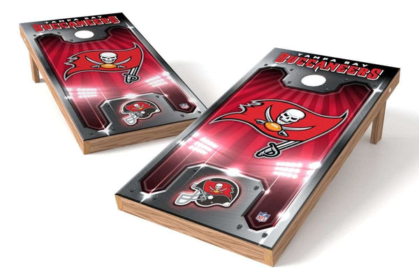Image: Tampa Bay Buccaneers 2x4 Cornhole Board Set - Plate | Proline Tailgating