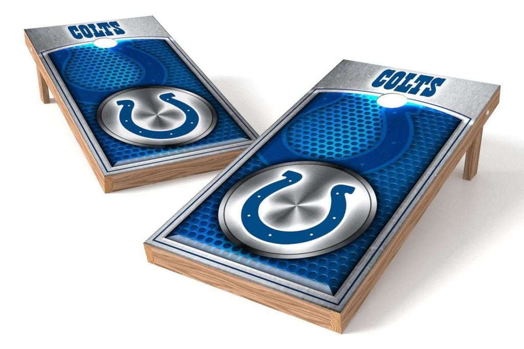 Image: Indianapolis Colts Cornhole Board Set - Millennial Diamond (w/Bluetooth Speakers) | Proline Tailgating