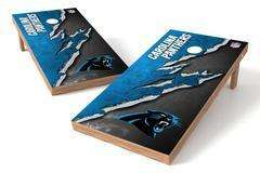 Image: Carolina Panthers Single Cornhole Board - Ripped | Proline Tailgating