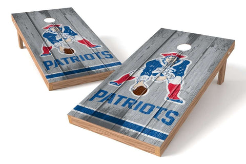 Image: New England Patriots 2x4 Cornhole Board Set - Vintage | Proline Tailgating