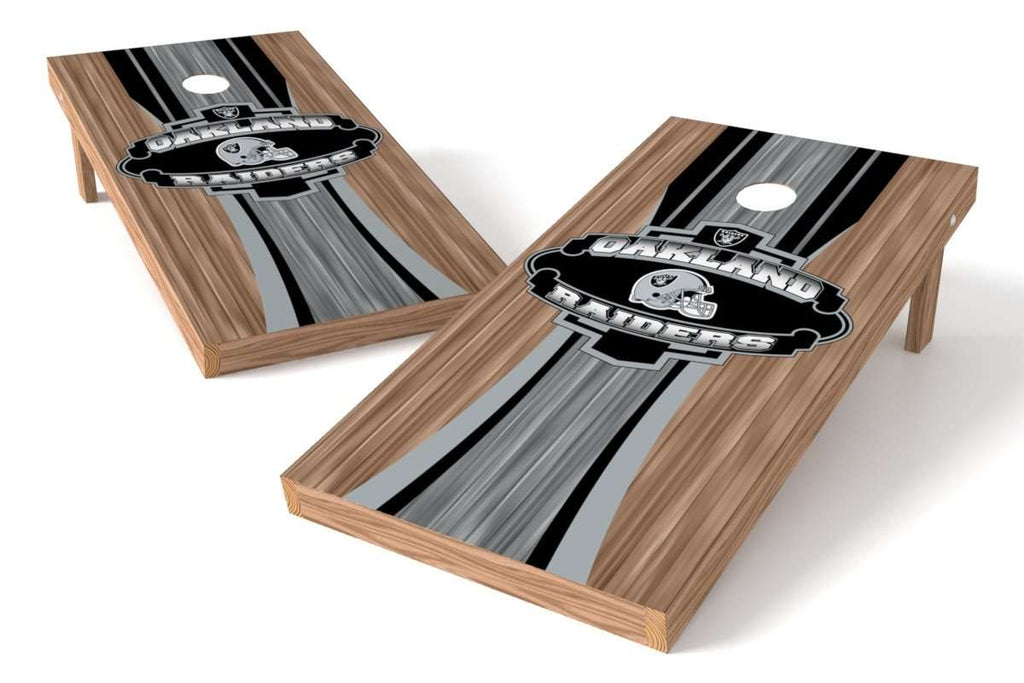 Image: Oakland Raiders 2x4 Cornhole Board Set - Wood | Proline Tailgating