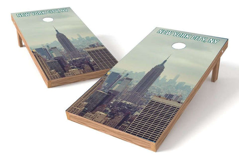 Image: New York City Skyline Cornhole Board Set | Proline Tailgating