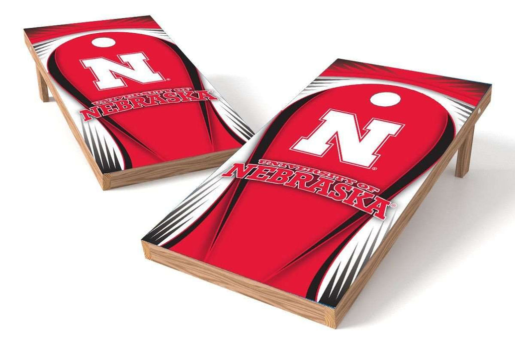 Image: Nebraska Cornhuskers 2x4 Cornhole Board Set - Drop | Proline Tailgating