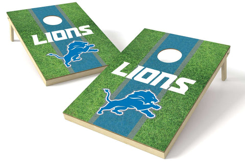 Image: Detroit Lions 2x3 Cornhole Board Set - Field | Proline Tailgating