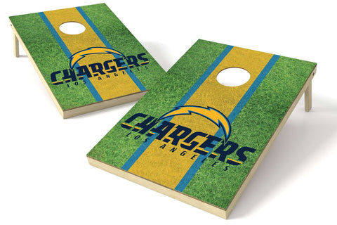 Image: Los Angeles Chargers 2x3 Cornhole Board Set - Field | Proline Tailgating