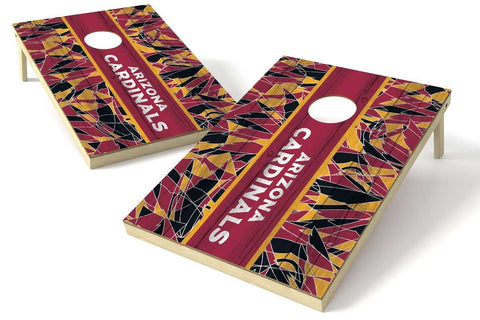 Image: Arizona Cardinals 2x3 Cornhole Board Set - Millennial Stripe | Proline Tailgating