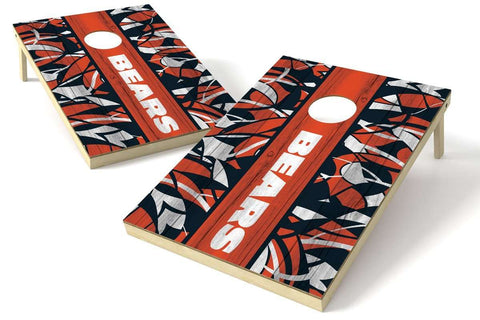 Image: Chicago Bears 2x3 Cornhole Board Set - Millennial Stripe | Proline Tailgating