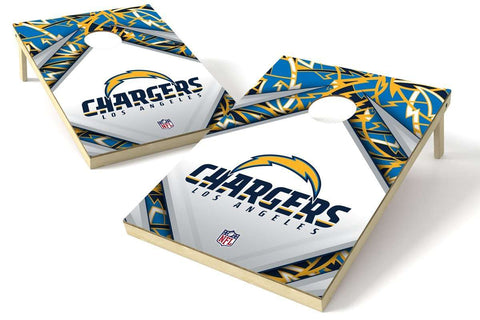 Image: Los Angeles Chargers 2x3 Cornhole Board Set - Millennial Diamond | Proline Tailgating