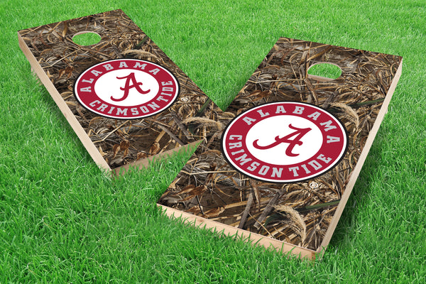 Image: Alabama Crimson Tide Single Cornhole Board - Realtree Max-5<sup>®</sup> Camo | Proline Tailgating